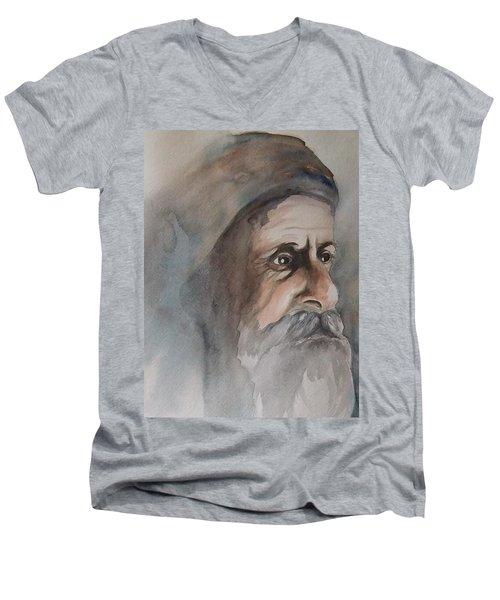 Abraham Men's V-Neck T-Shirt by Annemeet Hasidi- van der Leij