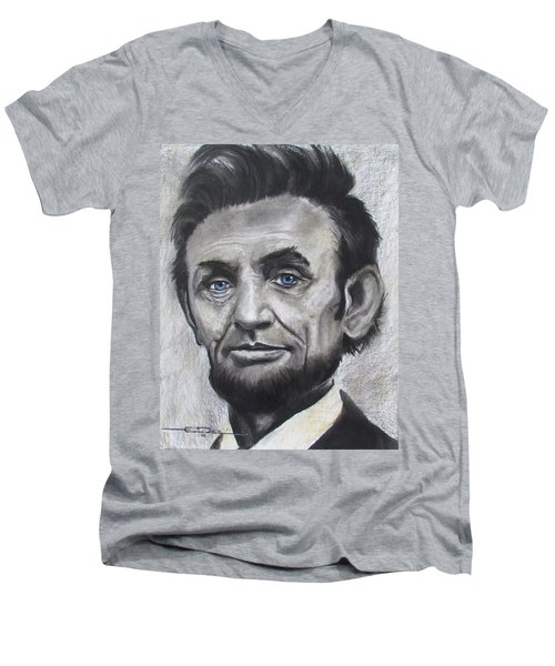 Abraham Lincoln Men's V-Neck T-Shirt