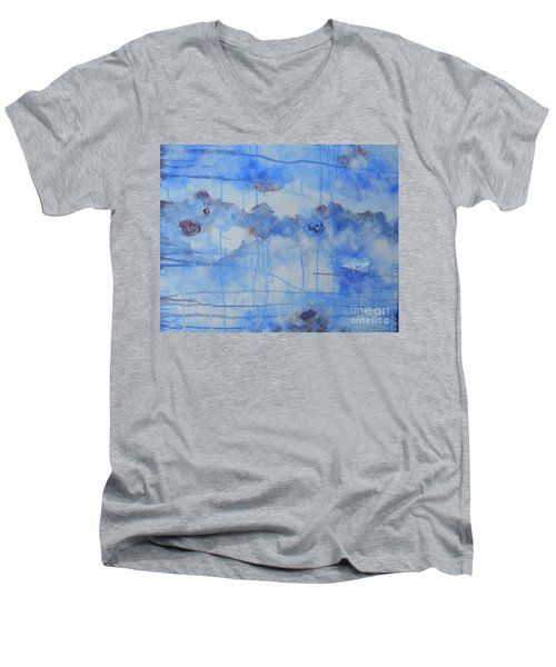 Abstract # 3 Men's V-Neck T-Shirt by Susan Williams