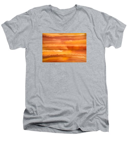 Abstract 14 Men's V-Neck T-Shirt