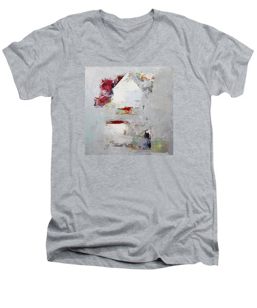 Abstract 2015 04 Men's V-Neck T-Shirt by Becky Kim
