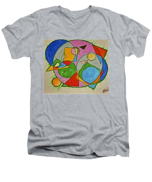 Abstract 89-001 Men's V-Neck T-Shirt