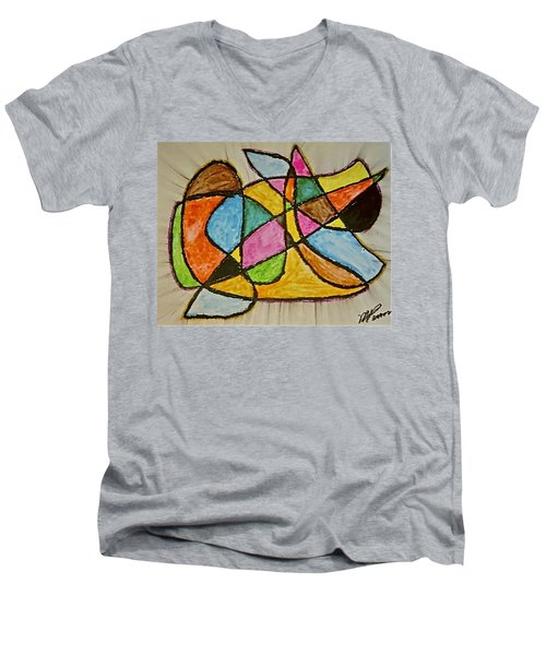 Abstract 89-002 Men's V-Neck T-Shirt