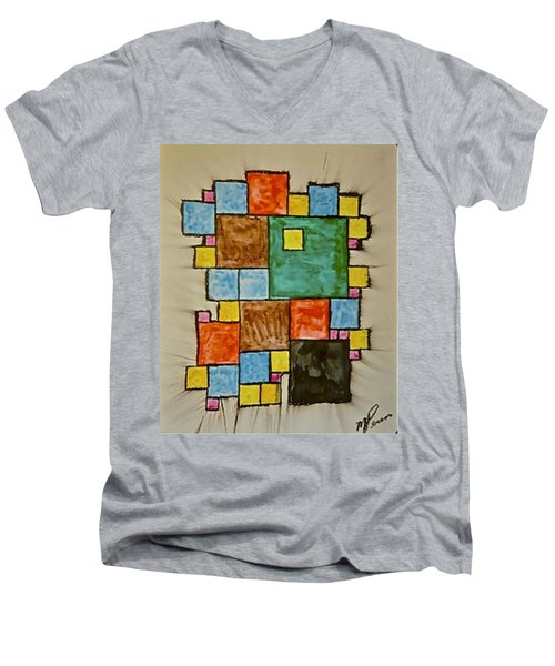 Abstract 89-003 Men's V-Neck T-Shirt