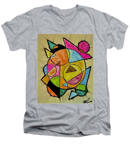 Abstract 89-004 Men's V-Neck T-Shirt