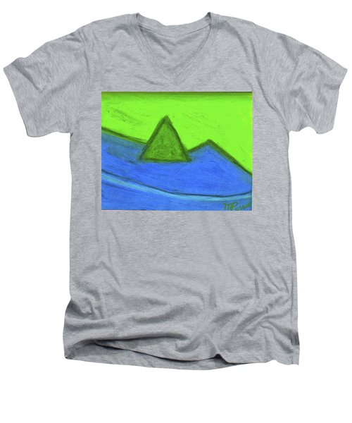 Abstract 92-001 Men's V-Neck T-Shirt