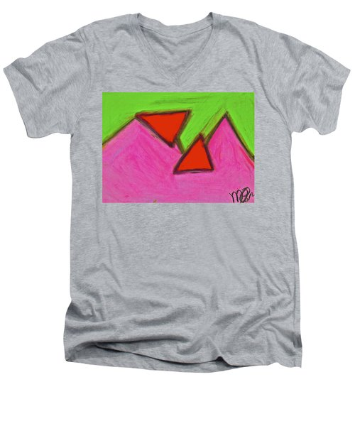 Abstract 92-002 Men's V-Neck T-Shirt