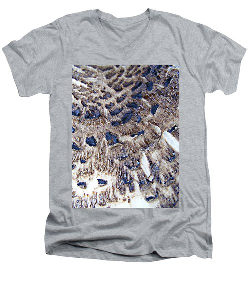 Abstract Accidental Sapphires Men's V-Neck T-Shirt by Linsey Williams
