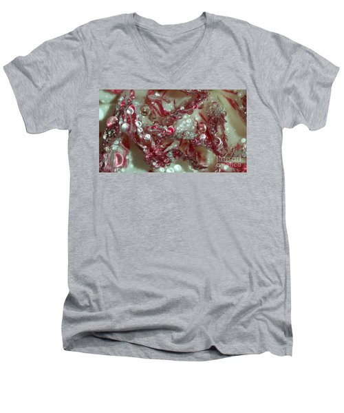 Abstract Carnation 2 Men's V-Neck T-Shirt