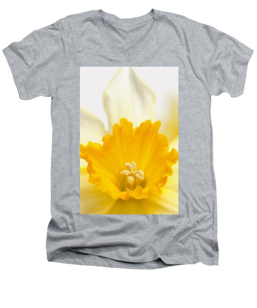 Abstract Daffodil Men's V-Neck T-Shirt