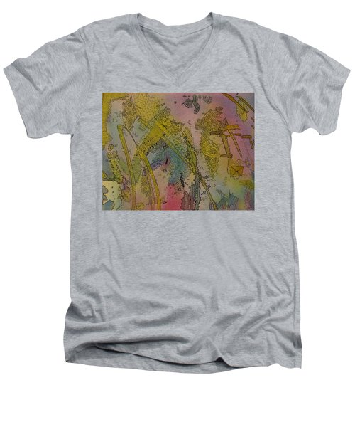 Abstract Doodle Men's V-Neck T-Shirt