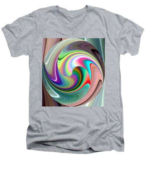 Abstract Fusion 241 Men's V-Neck T-Shirt