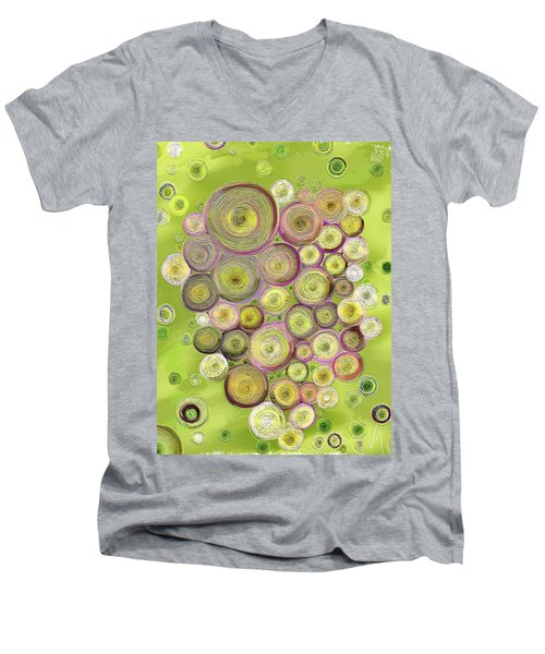 Abstract Grapes Men's V-Neck T-Shirt by Veronica Minozzi