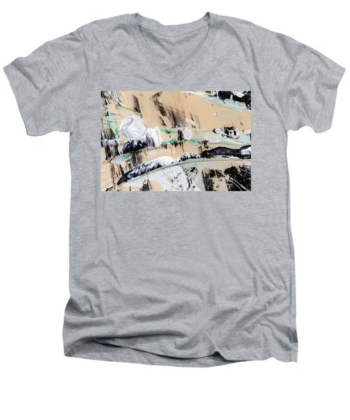 Abstract Original Painting Number Seven  Men's V-Neck T-Shirt