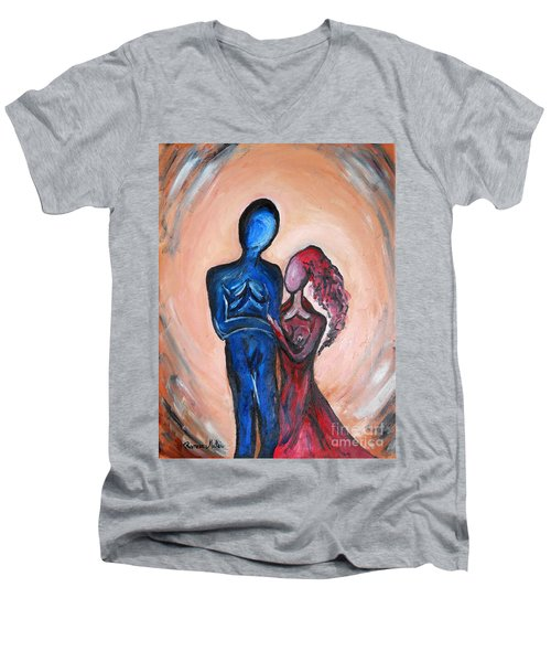 Abstract Romance Men's V-Neck T-Shirt