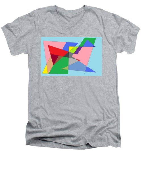 Abstract Men's V-Neck T-Shirt