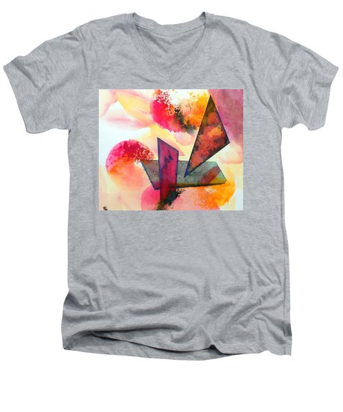 Abstract Shapes Men's V-Neck T-Shirt