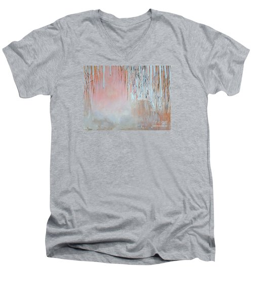 Abstract Spring Men's V-Neck T-Shirt by Donna Dixon