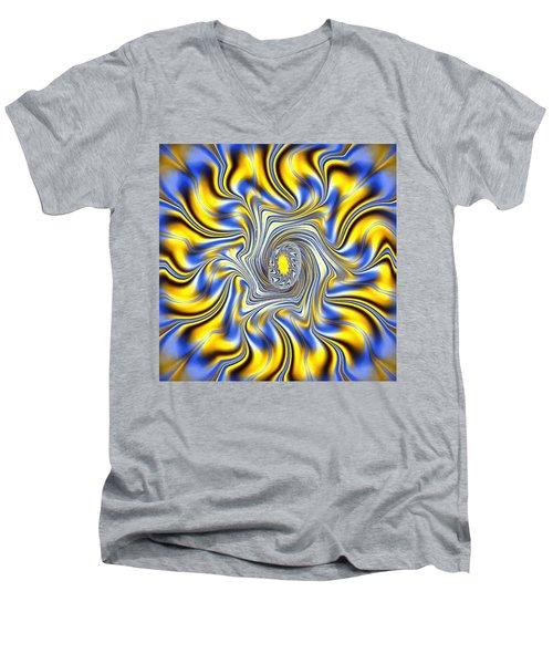 Abstract Spun Flower Men's V-Neck T-Shirt