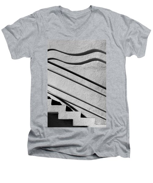 Abstract Stairs Men's V-Neck T-Shirt