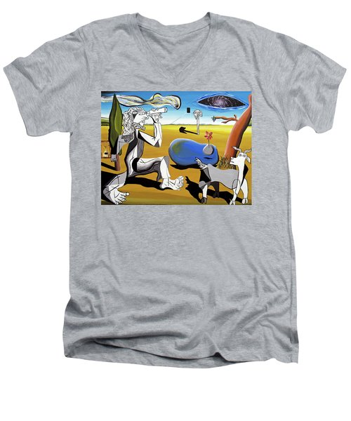 Abstract Surrealism Men's V-Neck T-Shirt