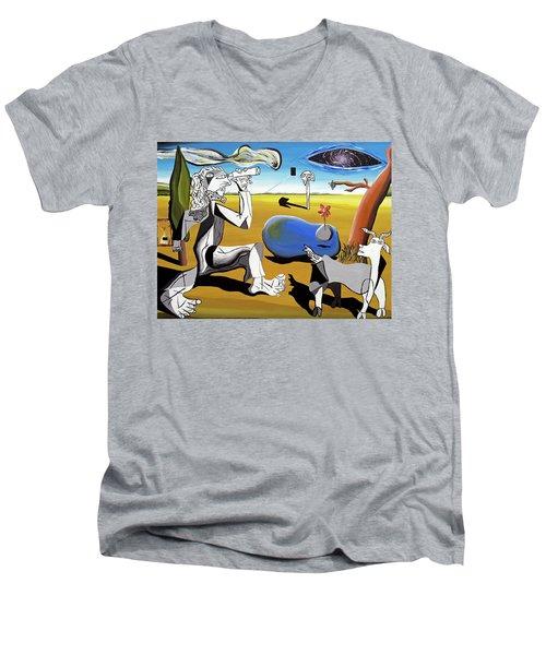 Abstract Surrealism Men's V-Neck T-Shirt