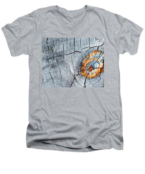 Abstract Woodgrain Upclose 6 Men's V-Neck T-Shirt