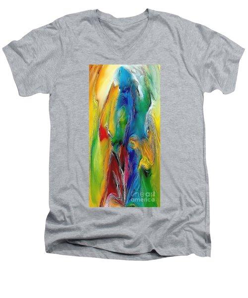 Abstraction 591-11-13 Marucii Men's V-Neck T-Shirt