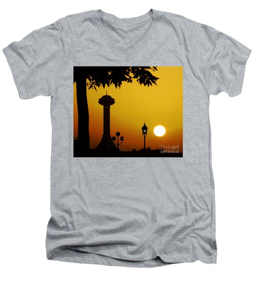 Men's V-Neck T-Shirt featuring the photograph Abu Dhabi by Andrea Anderegg