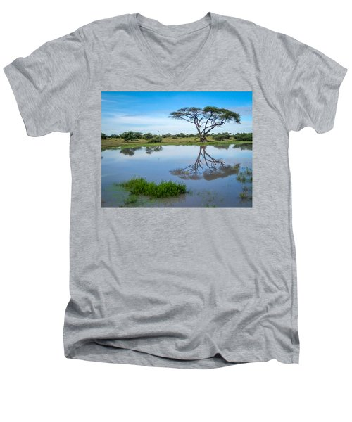 Acacia Tree Men's V-Neck T-Shirt
