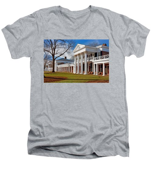 Academical Village At The University Of Virginia Men's V-Neck T-Shirt
