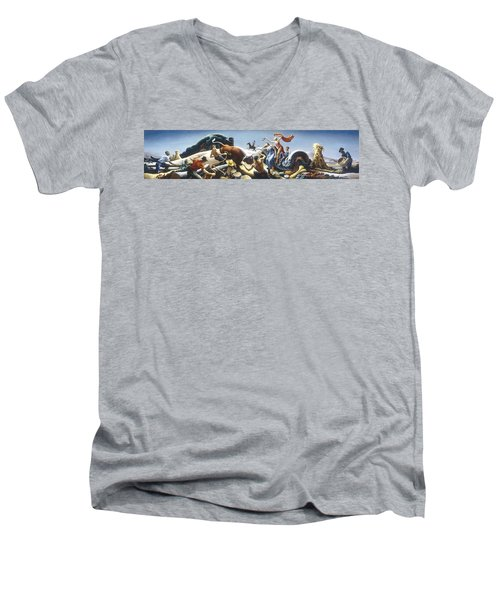Achelous And Hercules Men's V-Neck T-Shirt