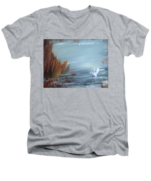 Achieving Stillness  Men's V-Neck T-Shirt by Laurianna Taylor