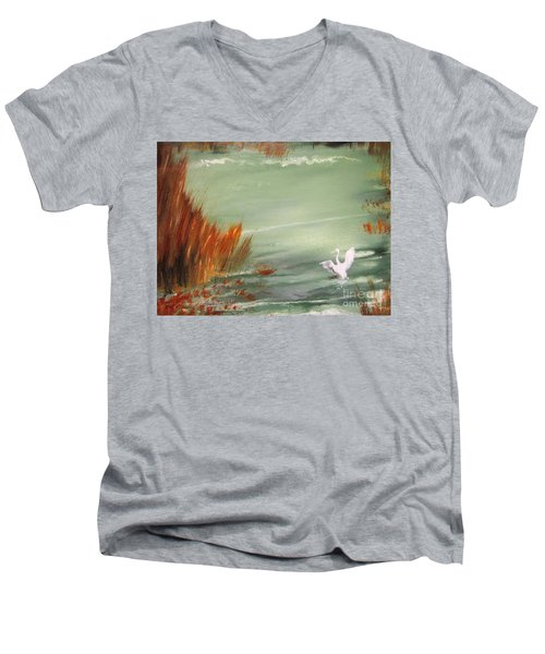 Achieving Stillness2 Men's V-Neck T-Shirt by Laurianna Taylor