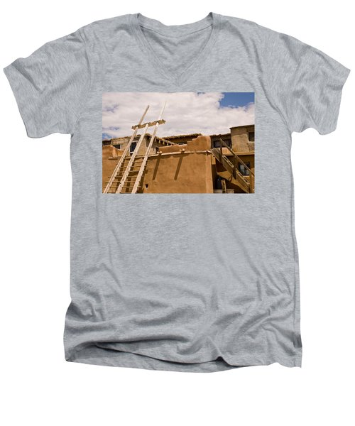 Acoma Building Men's V-Neck T-Shirt