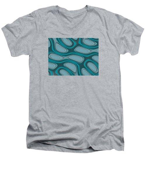 Acrescentado Men's V-Neck T-Shirt by Jeff Iverson
