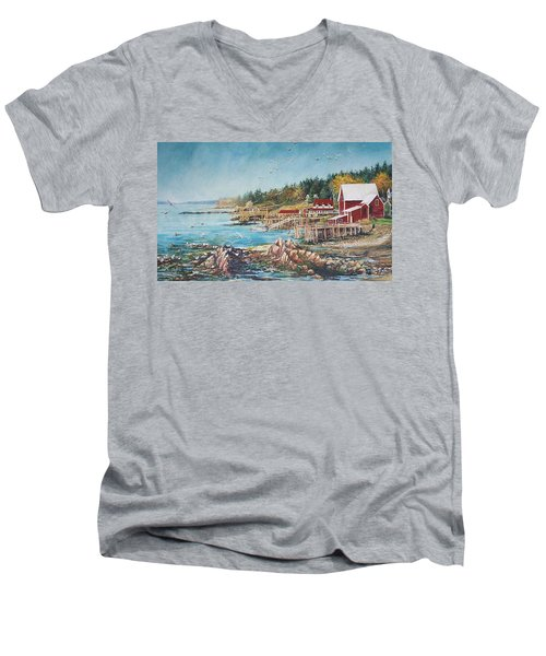 Across The Bridge Men's V-Neck T-Shirt