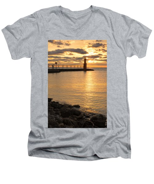 Across The Harbor Men's V-Neck T-Shirt
