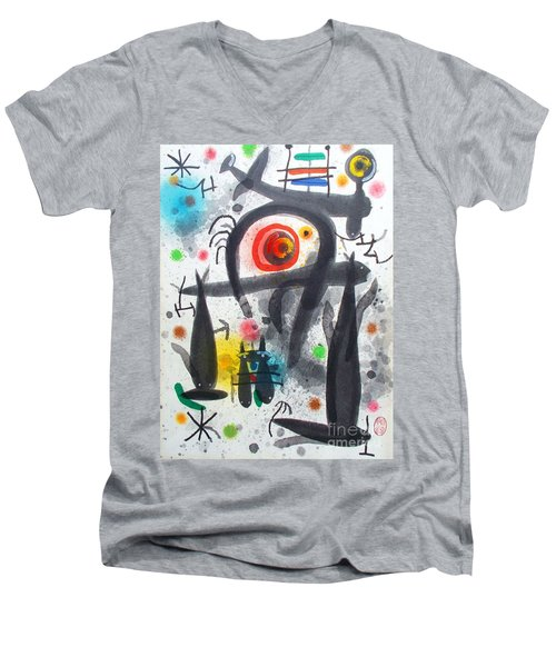 Acuatico Triunfo De La Imaginacion Men's V-Neck T-Shirt by Roberto Prusso