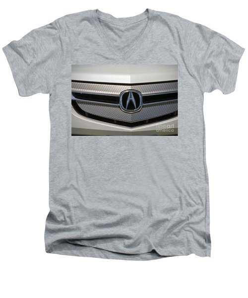 Acura Grill Emblem Close Up Men's V-Neck T-Shirt