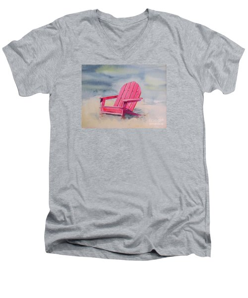 Adirondack At The Beach Men's V-Neck T-Shirt