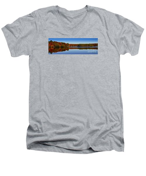 Adirondack October Men's V-Neck T-Shirt