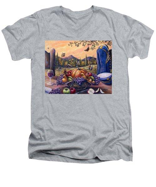 Admirals Harvest Men's V-Neck T-Shirt by Gail Butler