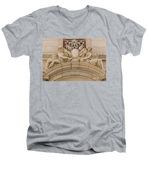Men's V-Neck T-Shirt featuring the photograph Adolphus Hotel - Dallas #5 by Robert ONeil