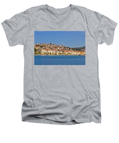 Adriatic Town Of Mali Losinj View From Sea Men's V-Neck T-Shirt