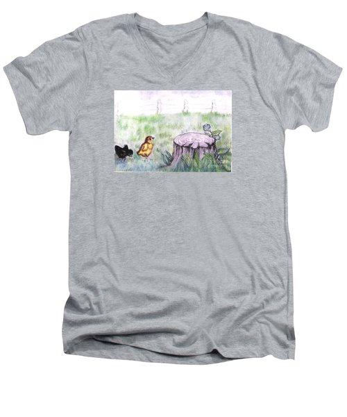 Adventurous Chicks Men's V-Neck T-Shirt by Francine Heykoop