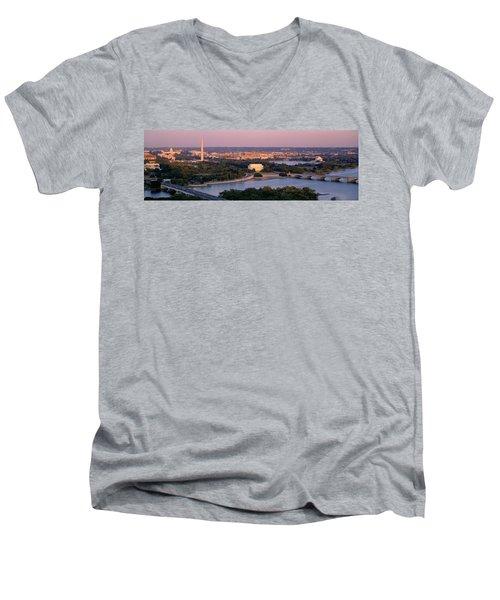 Aerial, Washington Dc, District Of Men's V-Neck T-Shirt
