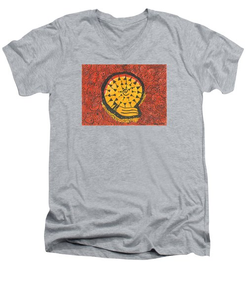 African Shell Pattern Men's V-Neck T-Shirt
