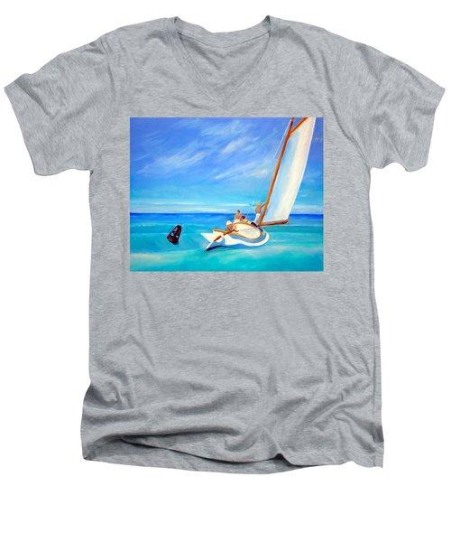 After Hopper- Sailing Men's V-Neck T-Shirt