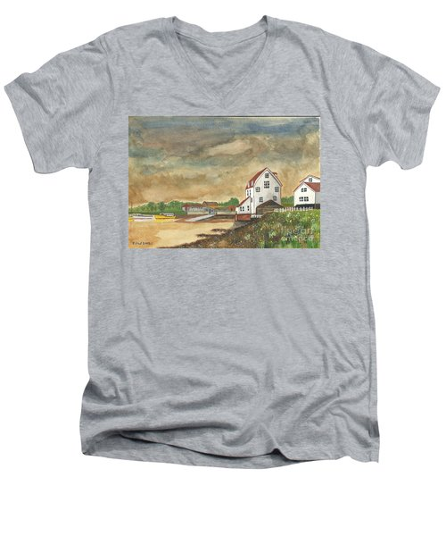 Men's V-Neck T-Shirt featuring the painting After The Storm by John Williams